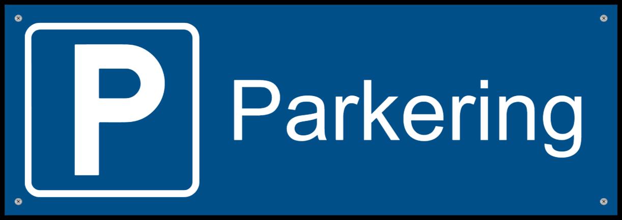 parkeringsskilte som Plastikskilt