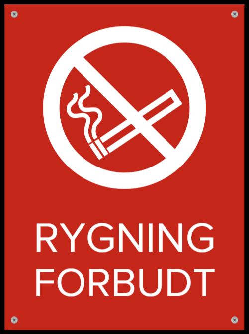 rygning forbudt skilte som Plastikskilt