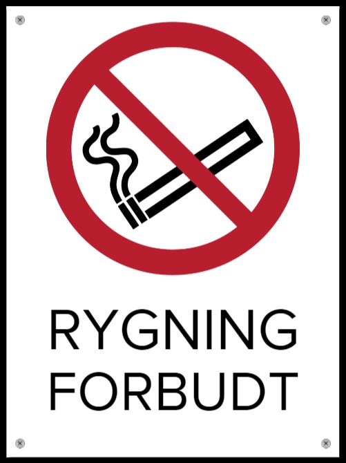 rygning forbudt skilte som Aluminiumskilt