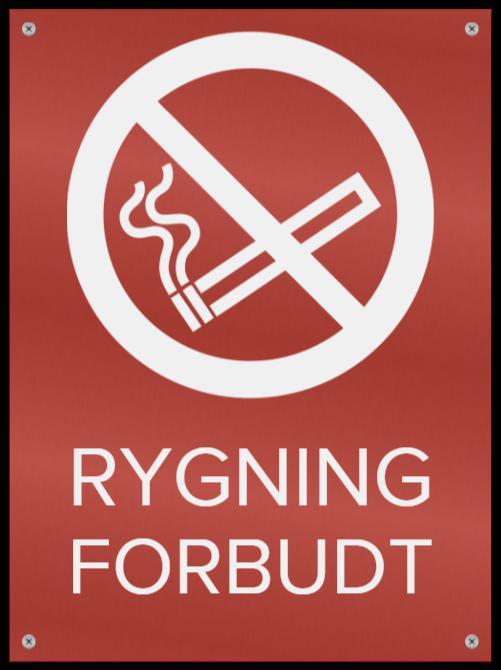 rygning forbudt skilte som Metalskilt