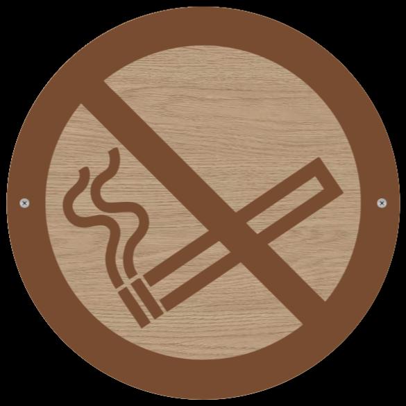 rygning forbudt skilte som Træskilt