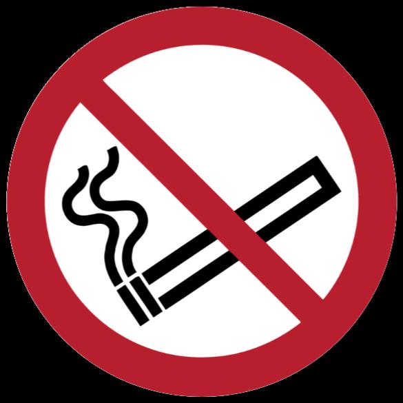 rygning forbudt skilte som Klistermærke