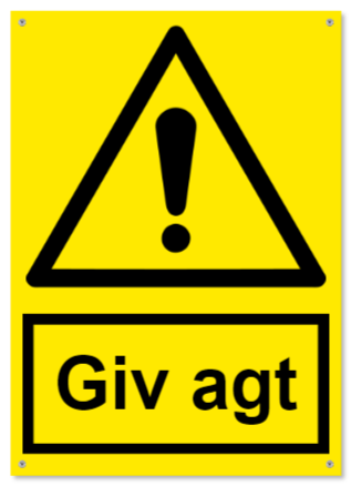advarselsskilte som Plastikskilt
