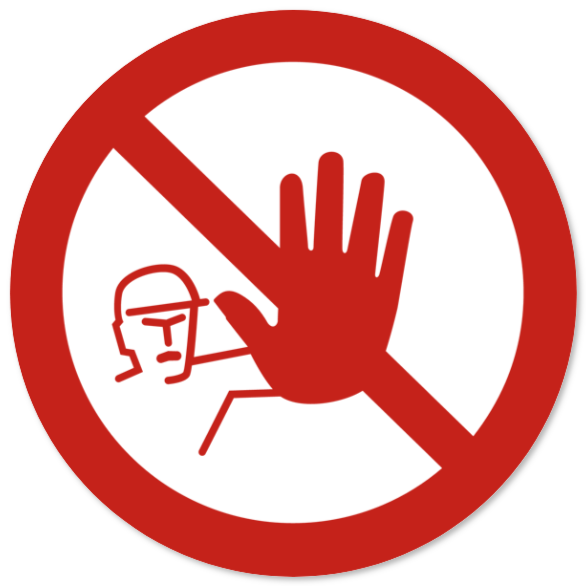 forbudsskilte som Plastikskilt