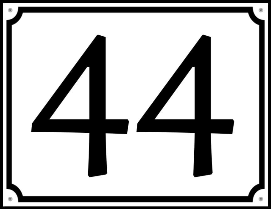 husnummerskilte som Plastikskilt