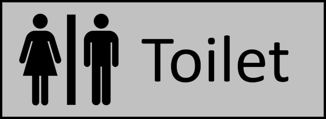 toiletskilt som Plastikskilt