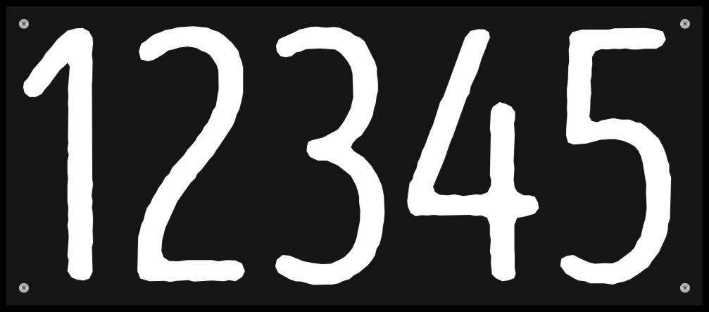 nummerskilte som Plastikskilt