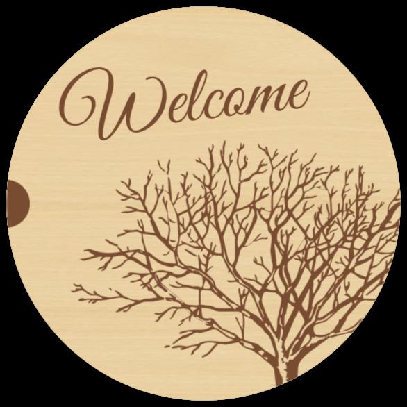 velkommen skilt som Træskilt